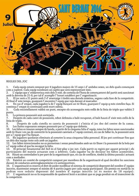 3x3 NBAlzira Sant Bernat 2016