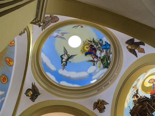 Trujillo: le plafond au-dessus de l'autel de la Cathédrale