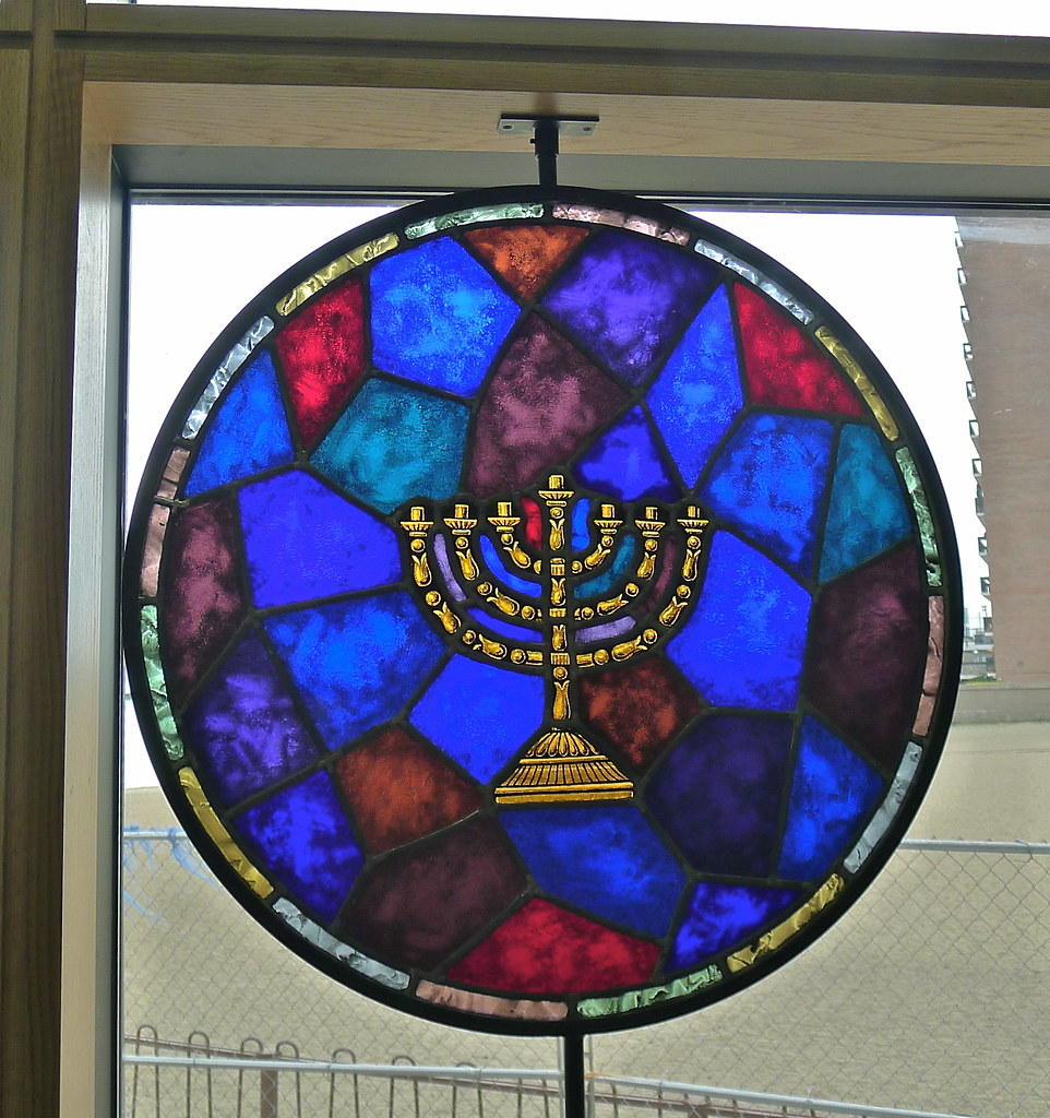 Cold rolled steel grill 5406 contemporary chicago by kramer - Stained Glass Window Project The Menorah