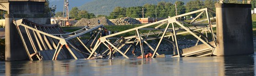 Collapsed Skagit River Bridge #03