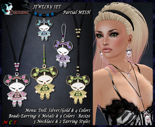 *P* Chinese Doll Jewelry Set (P-MESH)