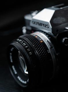Closeup of Olympus OM-20