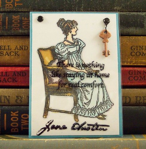 Jane Austen Home Quote ATC