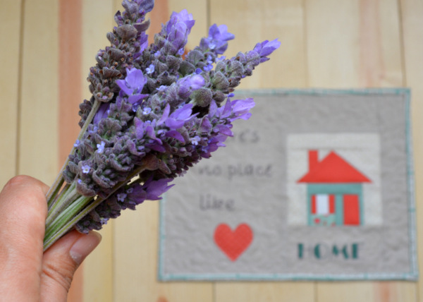 Home Mini Quilt & Lavender
