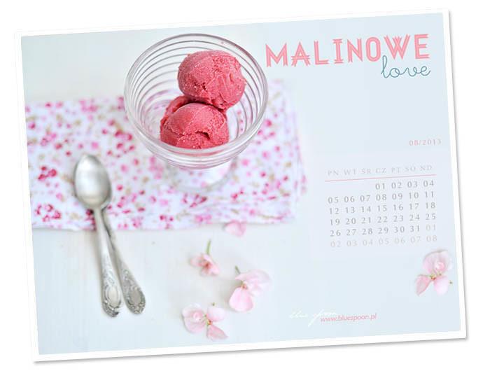 tapeta z kalendarzem na sierpien 2013 blue spoon