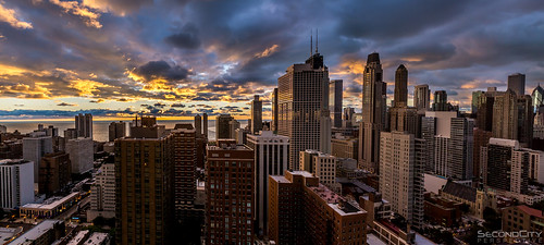 morning lake chicago clouds sunrise canon buildings early warm cityscape balcony pano chitown panoramic 5dm3
