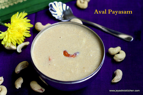 AVAL-PAYASAM-WITH JAGGERY