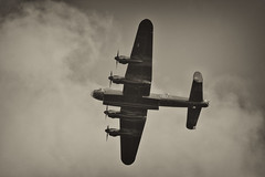 Lancaster, Battle of Britain Memorial Flight - Airbourne, Eastbourne, August 2013
