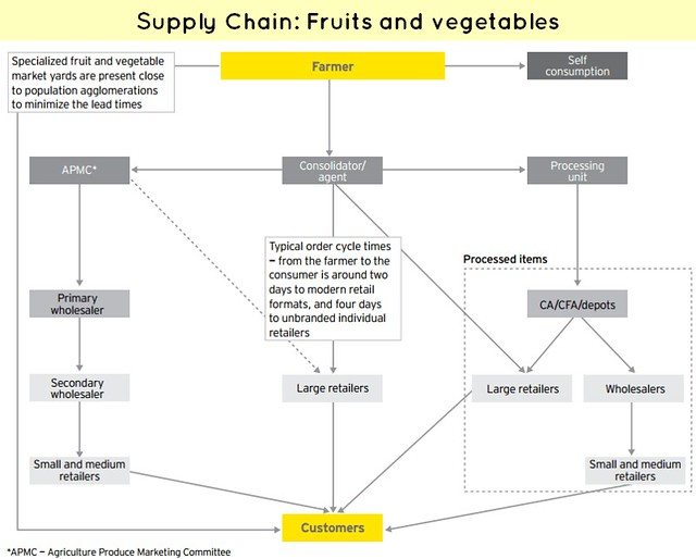 supply chain of fruits and vegetables Fruits and vegetables, spices, natural products such as seaweed, and sisal and three services: food safety (traceability, food safety audits), trade development (effective trade fair participation, branding, supply chain management) and packaging scf phase one will end in june 2008 and scf ii is currently being planned.