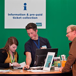 Our Info Desk staff - happy to help |