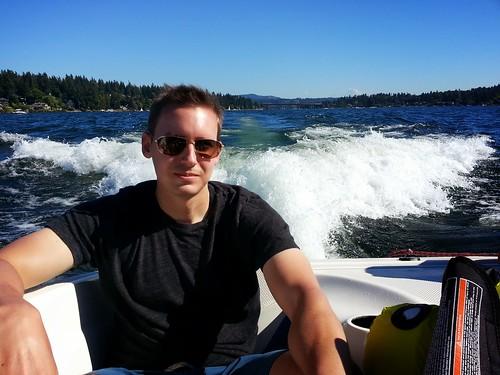 Brandon on Speedboat