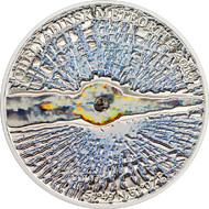 Cook Islands meteorite coin reverse