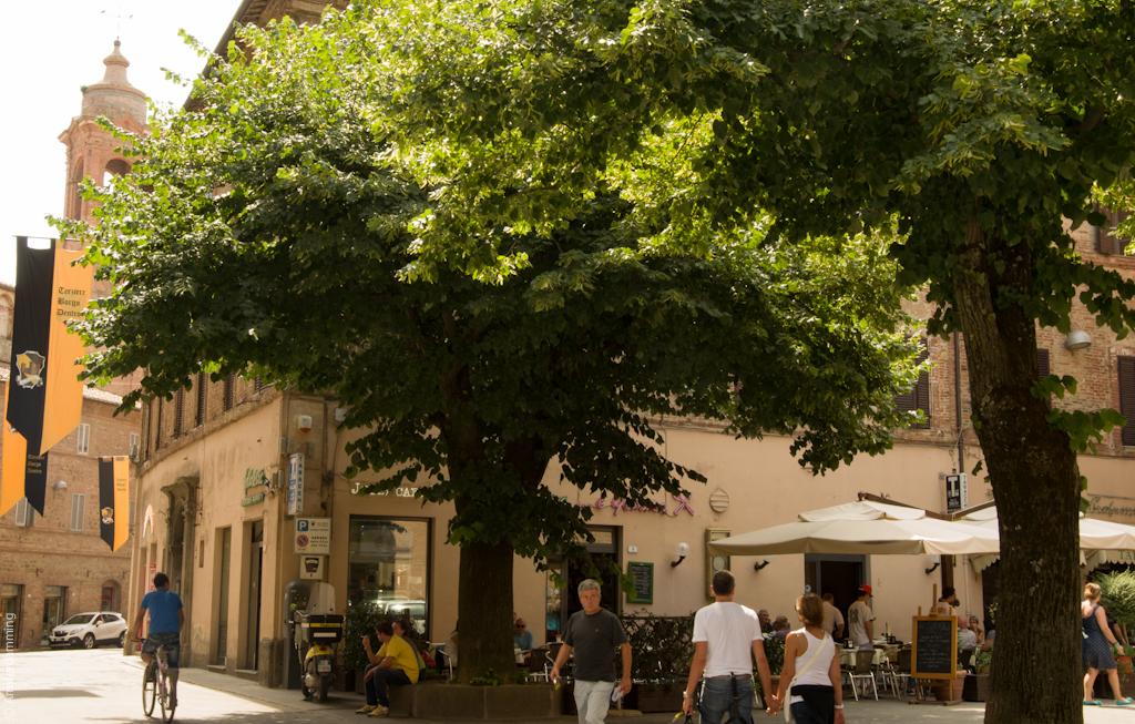 Italy, Main Square in Città della Pieve