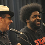 Wed, 11/09/2013 - 9:22pm - Blue Note Records' Don Was interviews Elvis Costello and Amir '?uestlove' Thompson about their 2013 release, Wise Up Ghost. At Electric Lady Studios in NYC for WFUV. Photo by Neil Swanson