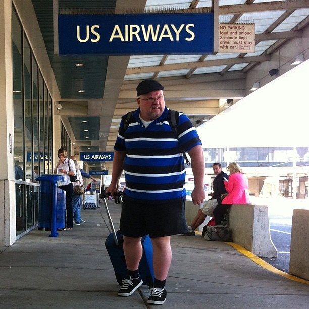 #bearfotosept - 9/13 - one of the downsides of air travel is having to run the gauntlet of people hanging out in front of the terminal grabbing one last #smoke. that used to be me.