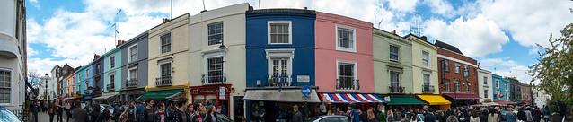 Panorama de Portobello Road Market