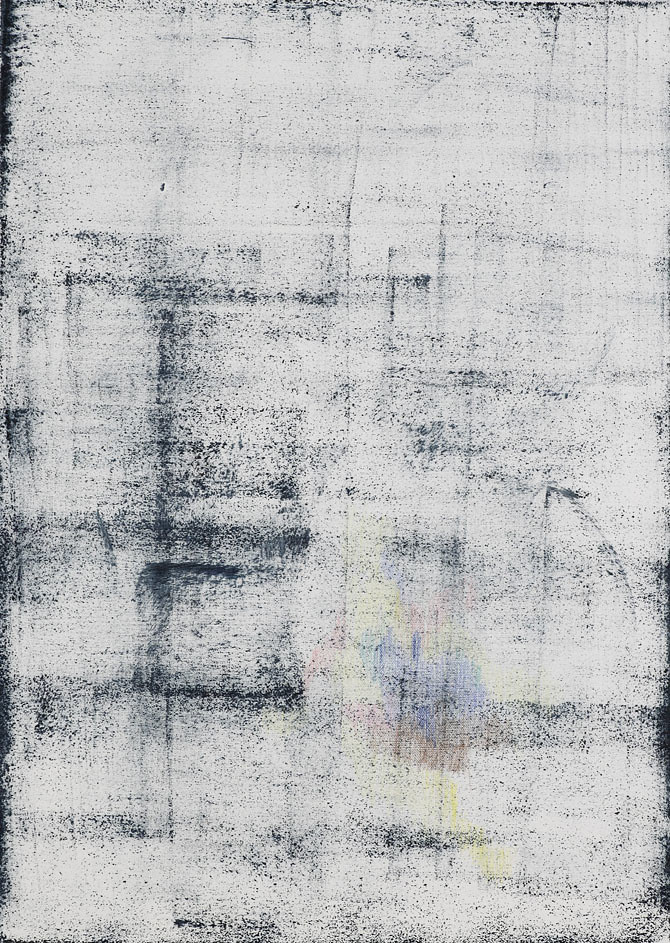 CHRISTINA CHIRULESCU o.T, Öl, Buntstift auf Lw, 70x50cm, 2013