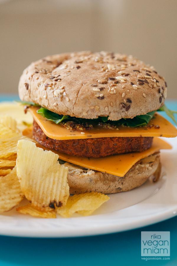 Vegan Provençal Cheeseburger