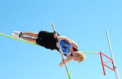 adventure, athletics, track and field athletics, sports, pole vault, person,