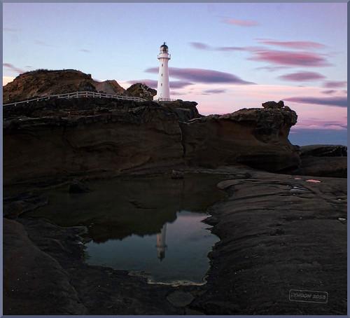 longexposure sunset newzealand lighthouse reflection twilight lowlight fuji gimp pacificocean coastal castlepoint wairarapa xs1 fujifilmxs1