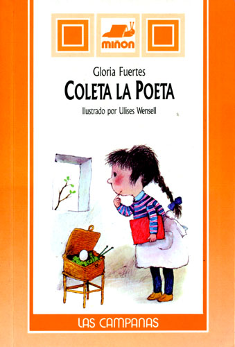 Cubierta de Coleta. La poeta