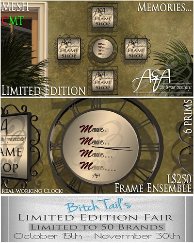 ::A&A:: Memories Frame Ensemble- Limited Edition by Alliana Petunia