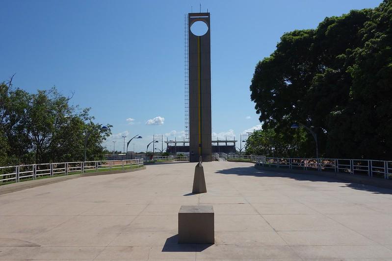 Fotografia do Monumento Marco Zero em Macapá, Amapá Brasil