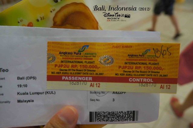 Bali Day 4 Airport Departure Tax
