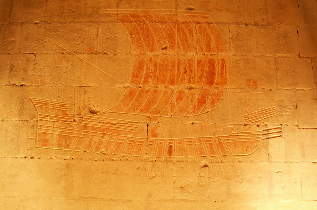Ancient Ship graffiti,Tarascon Castle, Provence, France
