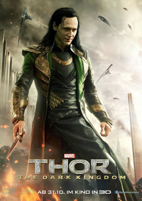 Thor 2 The Dark World Loki Tom Hiddleston Poster
