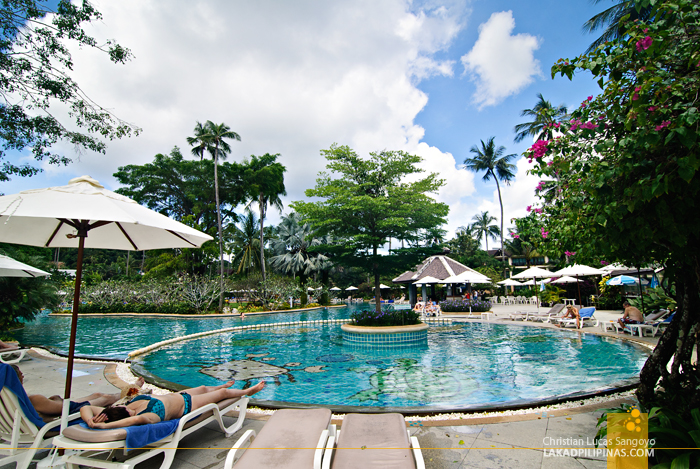 One of the Three Pools at Phuket's Duangjitt Resort