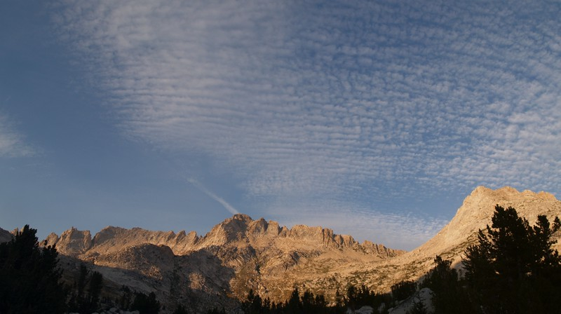 Cirrus Clouds over Matterhorn Peak and the Sawtooth Ridge