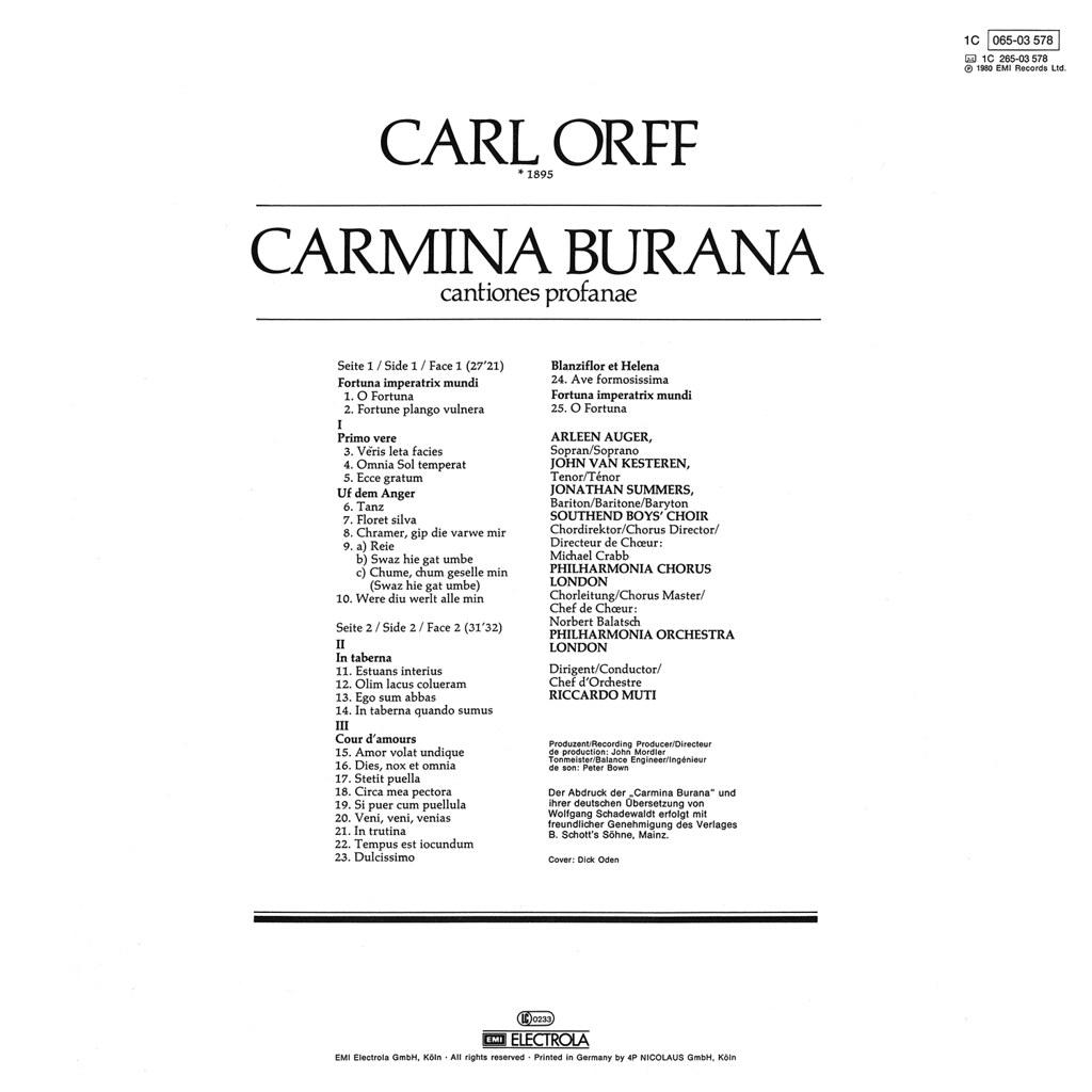 carl orff carmina burana