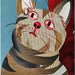 mail art cat collage by -murilo-