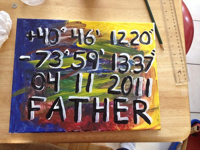 Father Coordinates Painting