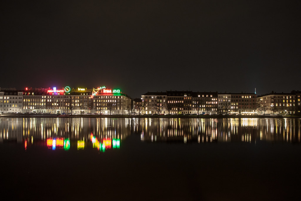 The Lakes (Søerne) at Night, Copenhagen