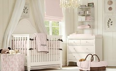 textile, furniture, room, infant bed, bed, interior design, nursery, bedroom, pink,