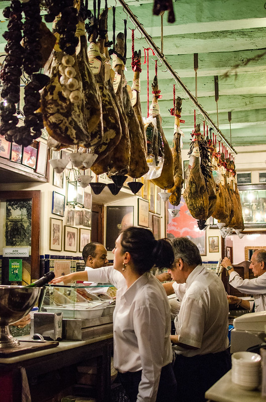 You know a restaurant is serious about their Jamón ibérico when they're stocked with this many legs.