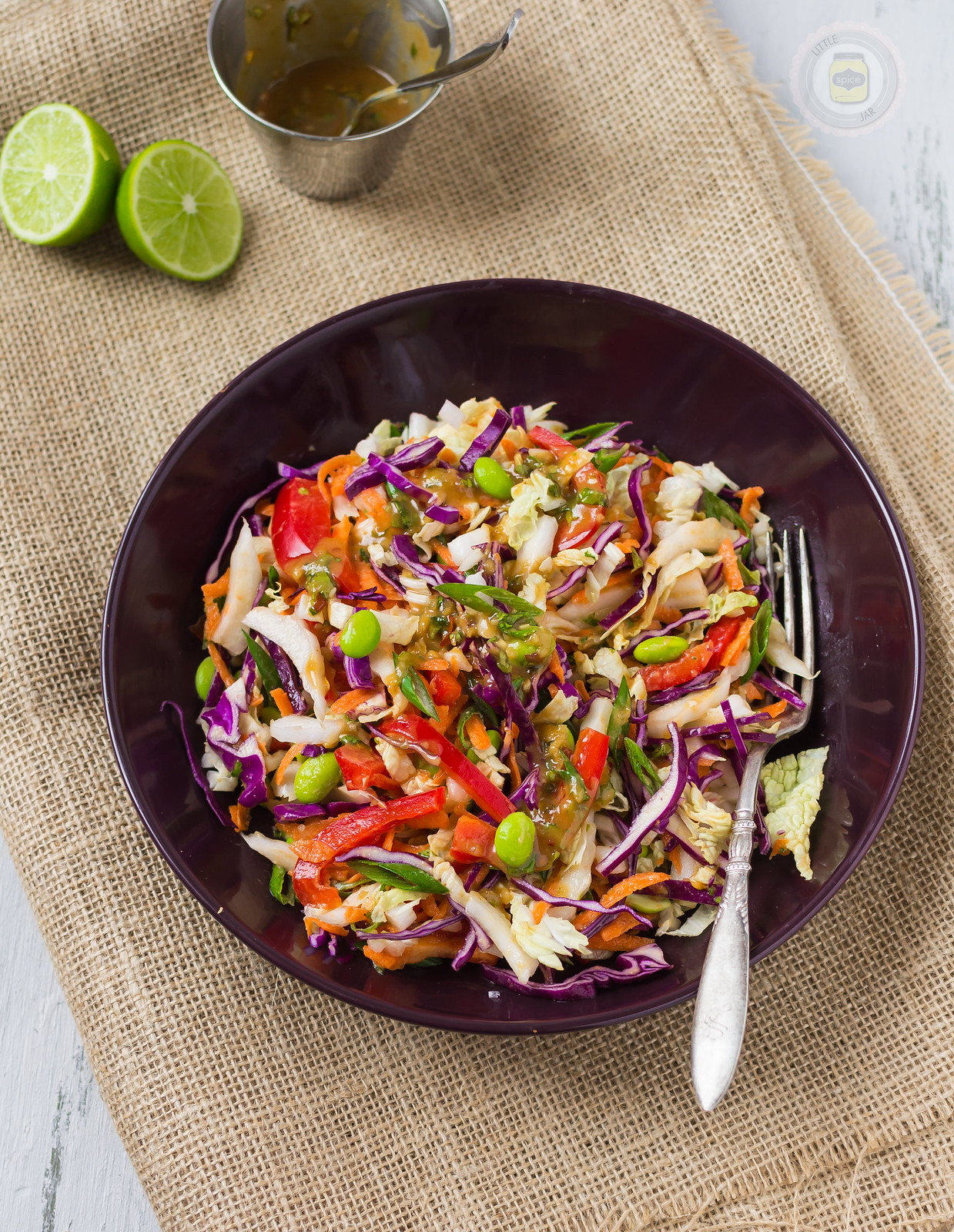 Thai Salad with Peanut Lime Dressing Final Mixed Three Quarters 2