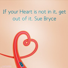 Quote of the day - Follow your heart! #love #passion #heart #quoteoftheday #photography #life #work #followyourheart #suebryce #inspiration