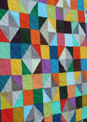 Sparkling Diamonds quilt - FMQ detail 2-1