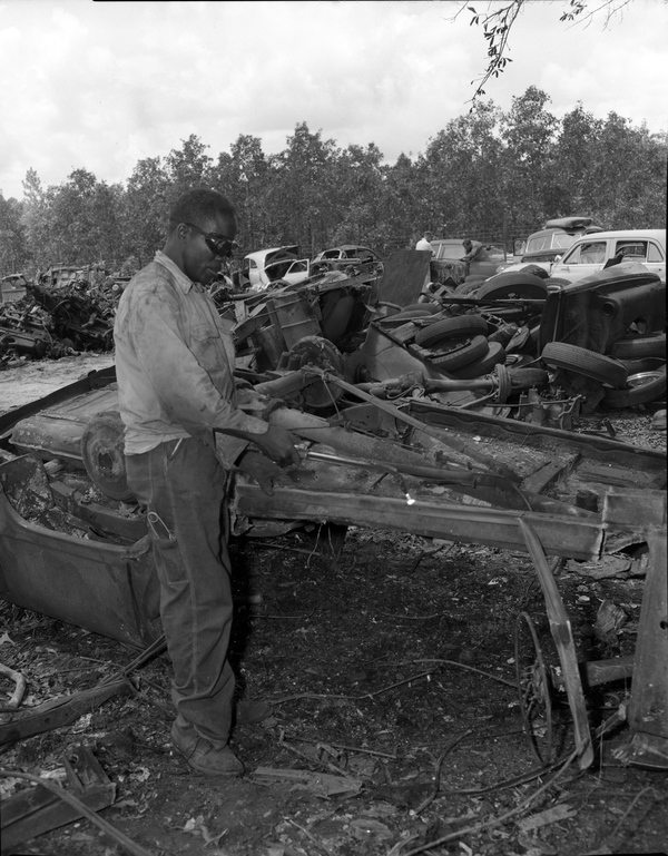 Unidentified Harrison Auto Yard employee in Leon County, Florida
