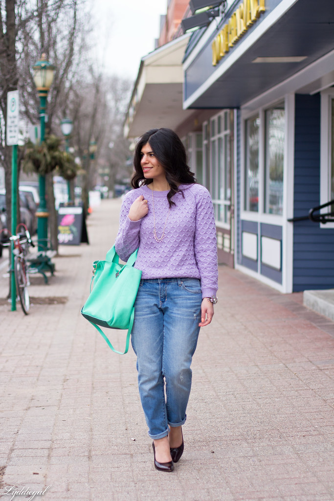 lavender sweater, boyfriend jeans, mint bag-5.jpg