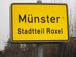 Ortsschild Roxel