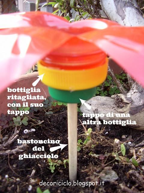 mangiatoia fiore di bottiglia 3 con scritte