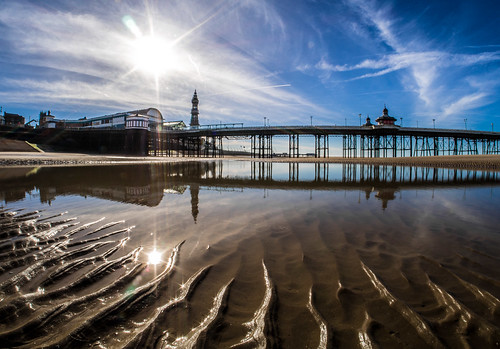 Blackpool, Lancashire. The North Pier.