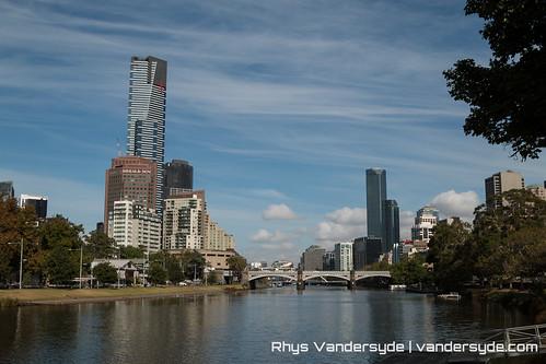 Eureka Tower over the Yarra River - Melbourne, Australia, 2014