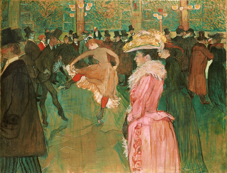 Henri de Toulouse Lautrec - At the Moulin Rouge The Dance (1890)
