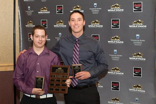 Corey Storkan receives Tyler Lowey Award from Kevin Cramer (Apr 3, 2014 Snucins)