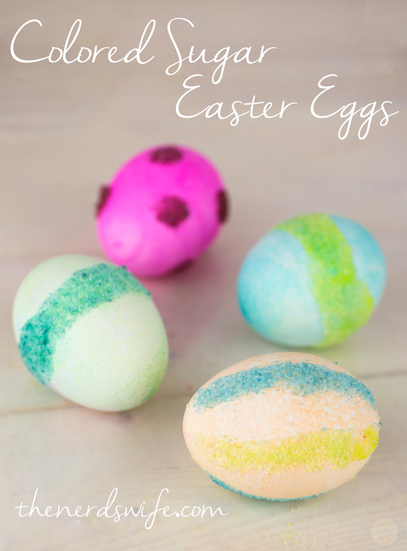 Colored Sugar Easter Eggs